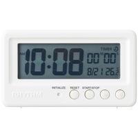 リズム時計工業 置き 時計 バスクロック アクアプルーフ ホワイト 8RDA72SR03 1個 (直送品)