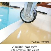 エクシールコーポレーション エコクリーン粘着マット用 アルミスロープ 900×60 厚み3mm 1本 1-3456-21 (直送品)