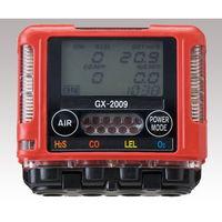 理研計器 ガスモニター GX-2009 TYPEF 2成分測定可 校正証明付 GX-2009TYPE-F 1個 1-6269-36 (直送品)