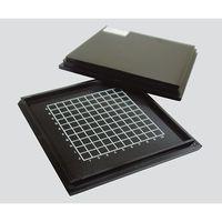 エクシールコーポレーション 精密部品保管搬送ケース(メッシュタイプ) 黒 4CB-M7 1個 3-5371-01 (直送品)
