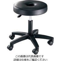 アズワン 円座キャスターチェアー DCC-1 1脚 3-5945-01 (直送品)