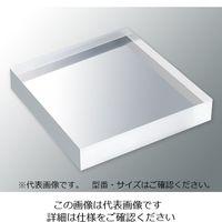 アズワン アクリル板 (透明厚板) 100×100mm 板厚25mm 1枚 3-6595-02 (直送品)