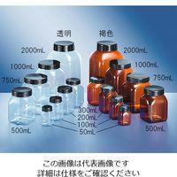 アズワン 広口角瓶 透明 50mL 50C 1個 3-6982-01 (直送品)