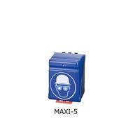 アズワン ヘルメット+保護メガネ用安全保護用具保管ケース ブルー 1個 3-7122-05(直送品)