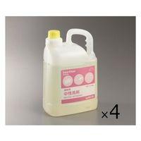 アズワン 業務用中性洗剤(サニクリア) 4.5kg×4本入 3-5374-12 1セット(18000mL) (直送品)