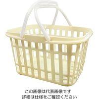 燕物産 ニューストライプバスケット アイボリー 1個 3-6074-01 (直送品)
