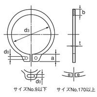 オチアイ(OCHIAI) 軸用C形止め輪 100枚入 STW-8 SR 1セット(3000枚:100枚×30セット)(直送品)