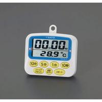 esco(エスコ) 85x69x14mmタイマー(温度計付・デジタル) EA798C-78A 1セット(3個) (直送品)