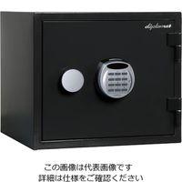 エスコ(esco) 412x397x 360mm 耐水・耐火金庫(黒) 1台 EA961KD-21(直送品)