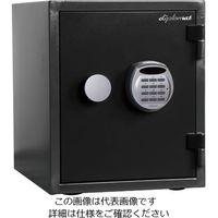 エスコ(esco) 352x467x 420mm 耐水・耐火金庫(黒) 1台 EA961KD-22(直送品)