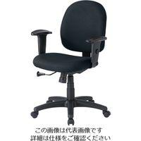 エスコ(esco) ビジネスチェアー(ブラック) 1脚 EA956XC-27 (直送品)