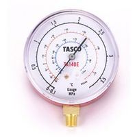 イチネンTASCO 普通型圧力計 R134a・R404A高精度圧力計 検査合格証明書付 TA140E 1セット(2個) (直送品)