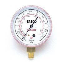 イチネンTASCO 普通型圧力計 R410A/R32高精度圧力計 TA140G 1セット(2個) (直送品)