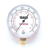 イチネンTASCO 普通型圧力計 R410A/R32高精度圧力計 TA140GB 1セット(2個) (直送品)