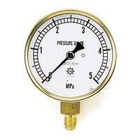 イチネンTASCO 普通型圧力計 3.5MPa1/4F75φゲージ TA147F-235 1個 (直送品)