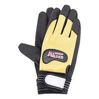 イチネンTASCO 合成皮革手袋 作業手袋(イエロー)LL TA967DZ-13 1セット(3双)(直送品)
