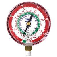 アサダ(ASADA) 普通連成計 R12等用高圧連成計 校正証明書付 φ80mm Y49243 1個 (直送品)