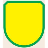 トーアン ワッペン195 緑無地/赤枠 75×60 27-695 1セット(20個)(直送品)