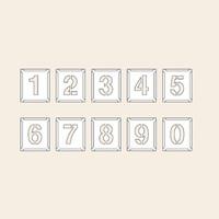 トーアン 測量用品 吹付ハザ折中 0〜9(10枚組)230×200 29-213 1組(10枚) (直送品)