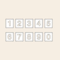 トーアン 測量用品 吹付ハザ折特大0〜9(10枚組)390×320 29-233 1組(10枚) (直送品)