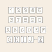 トーアン 測量用品 吹付バネ材中 数字英字記号 230×200 29-311 1枚 (直送品)