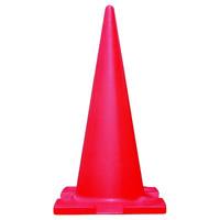 トーアン 三角コーン・コーンバー カラーコーン 赤 H1800 33-129 1セット(2個)(直送品)