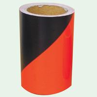 トーアン 反射テープ 黒×蛍光オレンジ 150mm×5m 34-214 1個(5m)(直送品)
