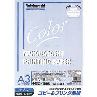 ナカバヤシ コピー&プリンタ用紙 A3 ブルー 100枚 HCP-3101-B 20個 (直送品)