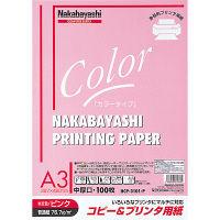 ナカバヤシ コピー&プリンタ用紙 A3 ピンク 100枚 HCP-3101-P 20個 (直送品)