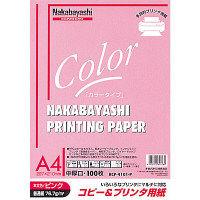 ナカバヤシ コピー&ワープロ用紙A4 100枚 ピンク HCP-4101-P 20個 (直送品)