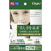 ナカバヤシ インクジェット用紙 光沢紙PX 厚手 L 100枚 JPPX-LS-100 10個 (直送品)