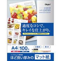 ナカバヤシ インクジェット用紙 マット紙SG 薄手 A4 100枚 JPSG-A4S-100 10個 (直送品)