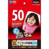 ナカバヤシ デジカメ印画紙/強光沢2L/50枚 JPSK-2L-50G 10個 (直送品)