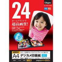 ナカバヤシ デジカメ印画紙/強光沢/A4/24枚 JPSK-A4-24G(N) 10個 (直送品)