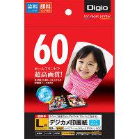ナカバヤシ デジカメ印画紙/強光沢/L/60枚 JPSK-L-60G(N) 20個 (直送品)