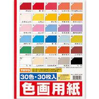 トーヨー 色画用紙 B4判 縦 30枚入 30色調 106110 2冊(1冊30枚入 30色調) (直送品)