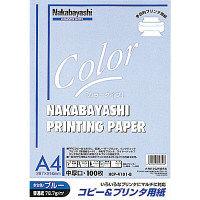 ナカバヤシ コピー&ワープロ用紙A4 100枚 ブルー HCP-4101-B 20個 (直送品)