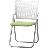 サンケイ 折りたたみ椅子 S-FITハイバック 座:グリーン(布) 2脚セット (直送品)