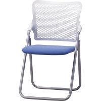 サンケイ 折りたたみ椅子 S-FITハイバック 座:スモークブルー(布) 2脚セット (直送品)