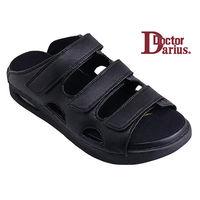 ドクターサンダル ドクターダリウス DD00101 ブラック S 1足 (直送品)