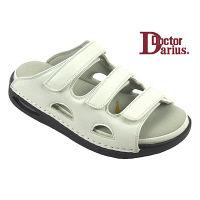 ドクターサンダル ドクターダリウス DD00103 ホワイト S 1足 (直送品)