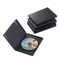 エレコム DVDトールケース 5枚パック ブラック CCD-DVD02BK (直送品)