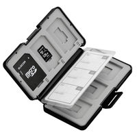 エレコム SD/microSDカードケース(プラスチックタイプ) 黒 CMC-SDCPP12BK (直送品)