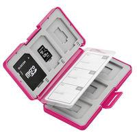 エレコム SD/microSDカードケース(プラスチックタイプ) 桃 CMC-SDCPP12PN (直送品)