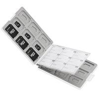 エレコム SD/microSDカードケース(プラスチックタイプ) ホワイト CMC-SDCPP36WH (直送品)