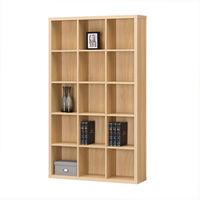 白井産業 重厚感のある本棚 書庫 ラック A4ファイル対応 木製 ナチュラルブラウン 幅1100×奥行283×高さ1854mm 1台 (直送品)