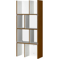 朝日木材加工 シェルフルシリーズ 簡単組立シェルフ ブラウン 幅578 × 奥行250 × 高さ1334mm 1台 (直送品)