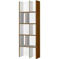 朝日木材加工 シェルフルシリーズ 簡単組立シェルフ ブラウン 幅578 × 奥行250 × 高さ1672mm 1台 (直送品)
