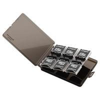 エレコム SD/microSDカードケース(プラスチックタイプ) 黒 CMC-06SD (直送品)