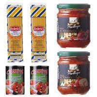 【お買い得】イタリア産パスタ・トマト缶・ソースセット1 (直送品)
